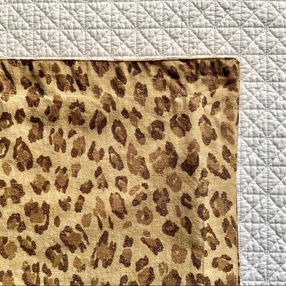 Ralph Lauren leopard print org. cotton Euro sham